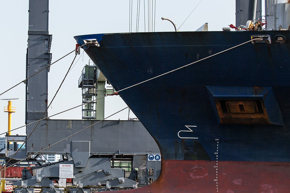 Maritime and shipping boat