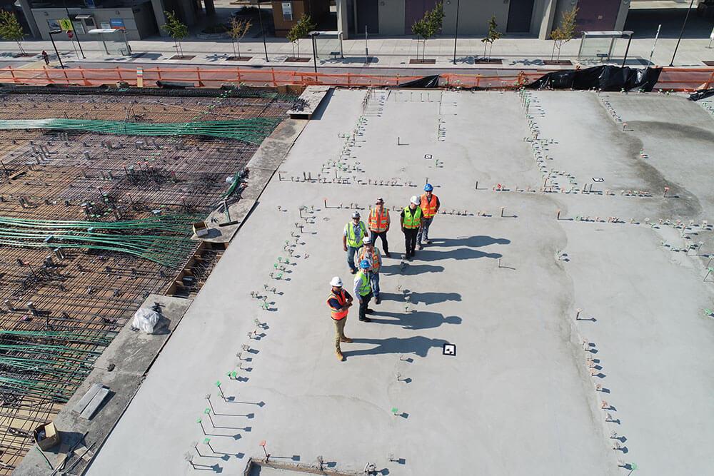 Contractors doing ultrasonic testing