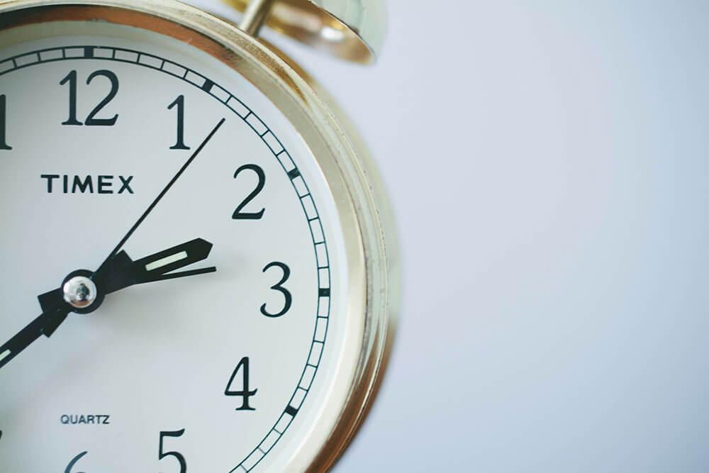 Close up of a ticking clock