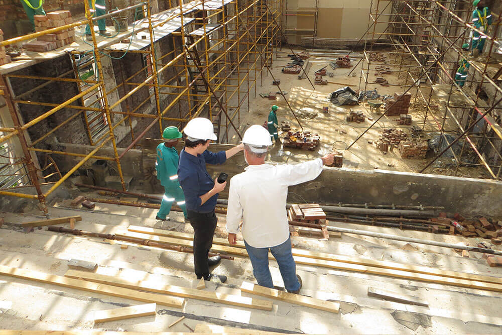 Three NDT contractors on a work site