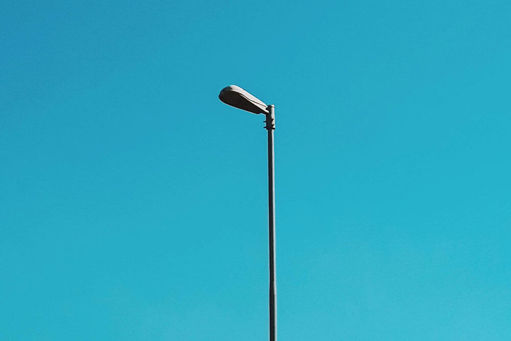 Light pole on clear day